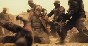 Batman beaten down