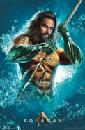 Aquaman with a trident promo art
