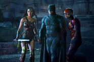 Batman, Wonder Woman, and Flash