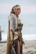 Hippolyta on beach