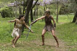 Diana training with Antiope
