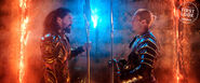 Aquaman and King Orm face off