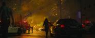 Montoya walks to fire