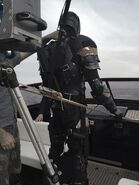 Justice League - BTS - Deathstroke on boat
