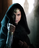 Wonder Woman in a cloak