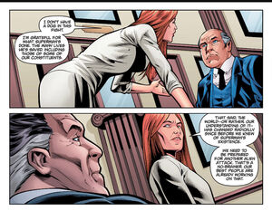 Senator Finch and her committee discuss Superman