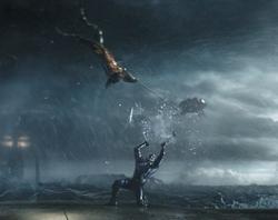 Arthur destroys Orm's Trident