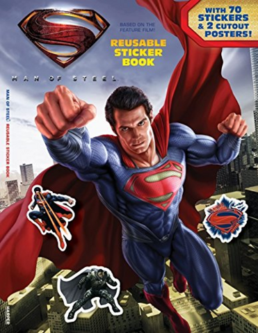 File:Man of Steel Reusable Sticker Book cover.png
