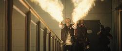 El Diablo shoots flames