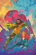 Justice League Aquaman Drowned Earth 1 - Aquaman variant cover