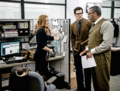 Lois Lane, Clark Kent and Perry White at the Daily Planet.png