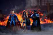 Action figure recreation of Superman, Wonder Woman and Batman
