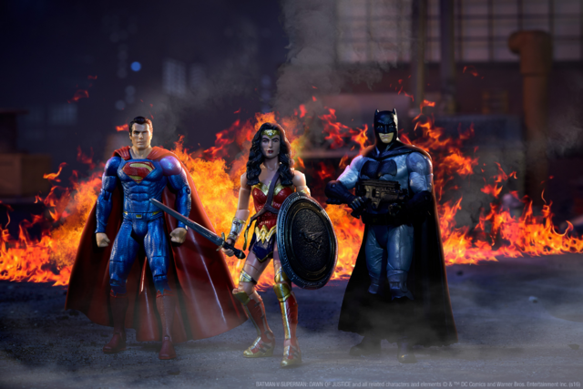 File:Action figure recreation of Superman, Wonder Woman and Batman.png