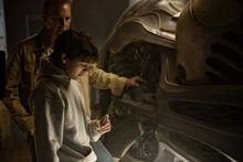 Jonathan shows Clark his ship