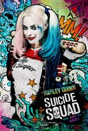 Harley Quinn comic character poster