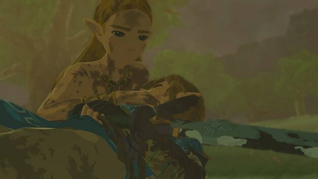 Zelda and Link in Breath of the Wild