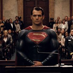 Superman en una audiencia con Finch.