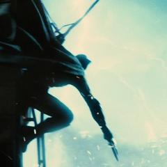 Batman esquivando los ataques de Doomsday.