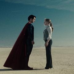 Clark y Lois antes de ir a la nave de Zod.