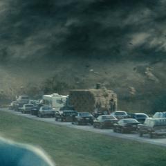 Clark viendo el sacrificio de Jonathan.