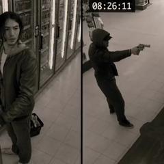 Barry durante un asalto en una tienda.