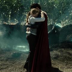 Superman tras salvar a Lois.