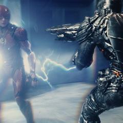 Barry enfrenta a un Parademonio.