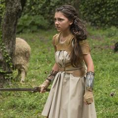 Diana entrenando con Antiope.