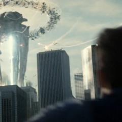 Bruce Wayne llega durante una batalla en Metrópolis.