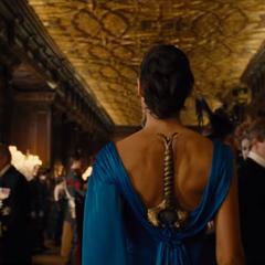 Diana se infiltra en la gala.