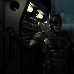 Bruce tras jalar la palanca.