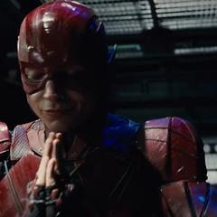 Barry resando antes de salir a luchar.