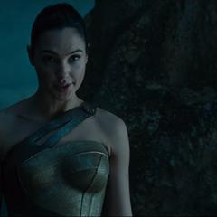 Diana persuadiendo a Steven de llevarlo con Ares.