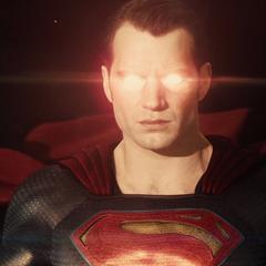 Superman se recupera en el espacio.