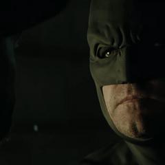Batman dándole una advertencia a Deadshot.