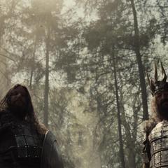 Rey de los hombres en una escena eliminada de la película.