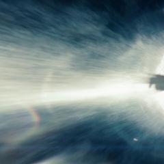 Superman a punto de destruir el motor terrafórmico.