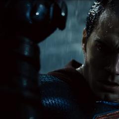 Reacción de Superman a la resistencia de Batman.