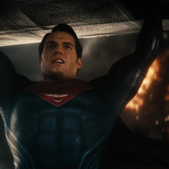 Superman durante un accidente de despegue.