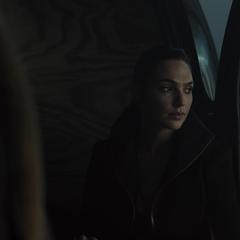 Diana en una escena eliminada de la película.