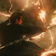 Superman se sacrifica para vencer a Doomsday.