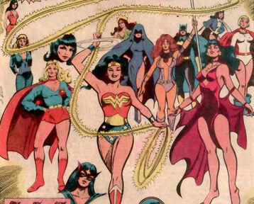 Wonder woman powergirl zatanna huntress xanadu raven supergirl batgirl starfire mera