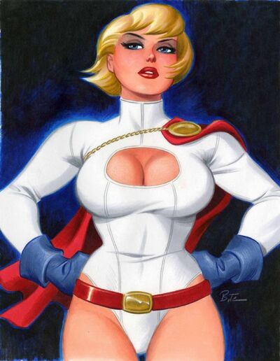 Power Girl by Bruce Timm