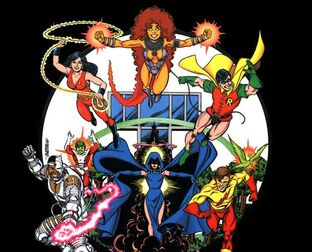 Titans raven cyborg robin changeling donna troy kid flash