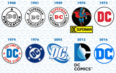 Dc comics logo evolution