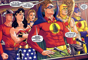 Jsa disband hawkman atom alan scott flash canary ww