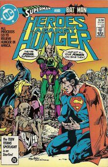 Heroes against hunger batman superman luthor