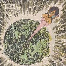 Krypton blow up post crisis superman