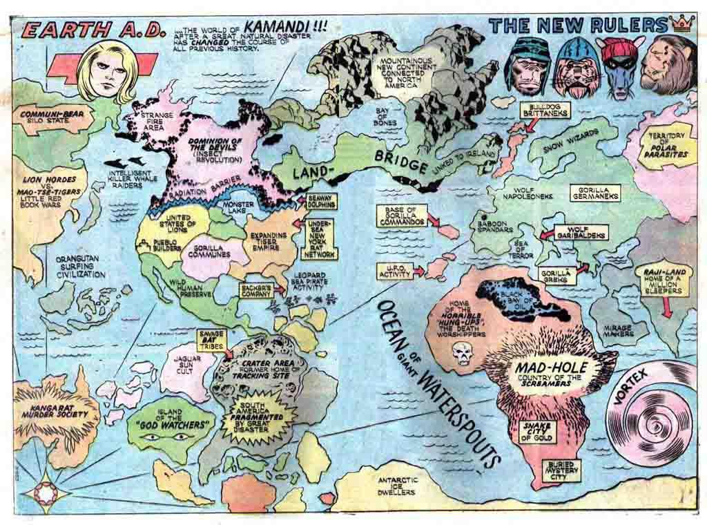 Image - Kamandi-map-earth-ad.jpg | DC Heroes RPG Wiki | FANDOM ...