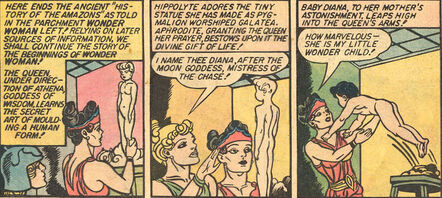 Hippolyta wonder woman born